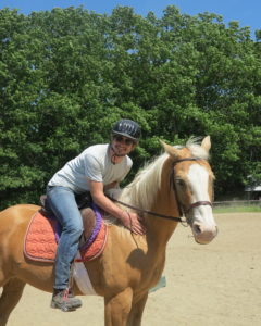 Stephen fulfills his dream of always wanting to ride a horse!! Go Stephen!