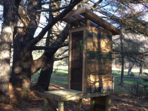 A lovely new outhouse