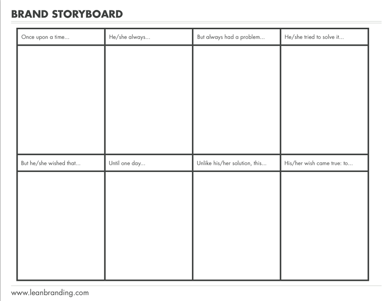 storyboard template app - the designer s guide to building a brand story inside