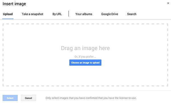 Google Drive drop image