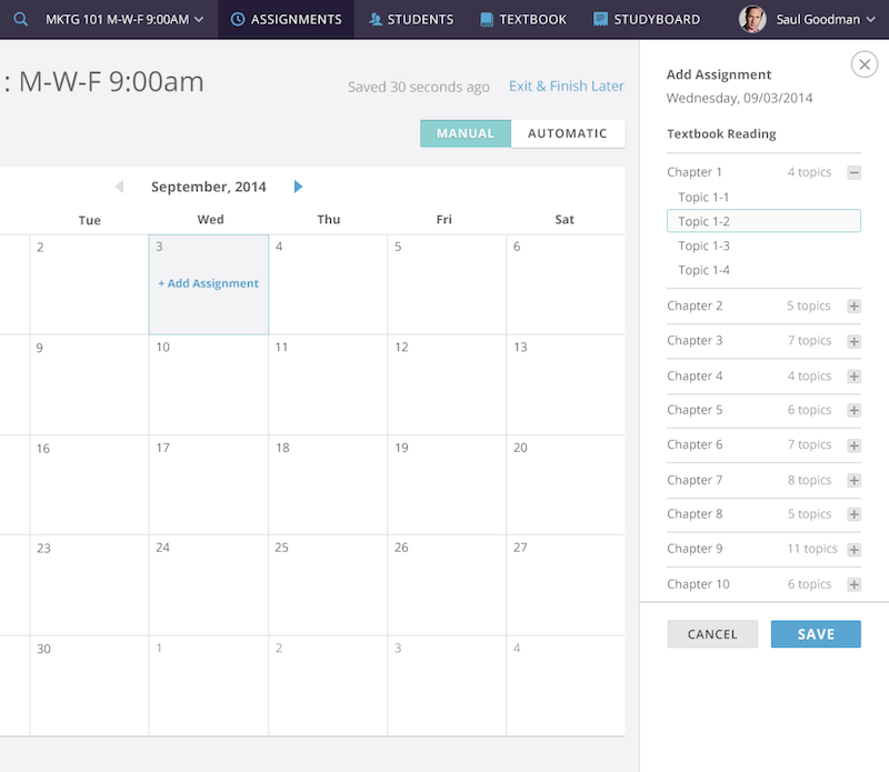 onboarding with a calendar