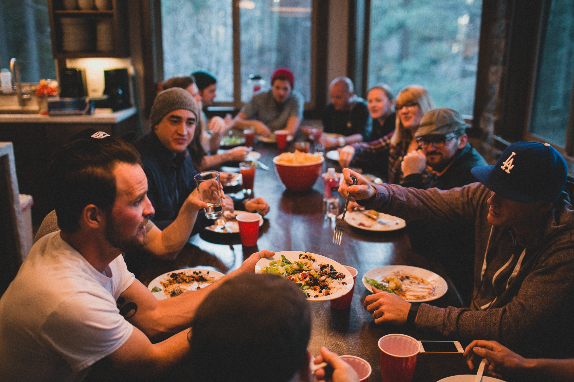 Eating meals together, at the same table, created a real sense of family where attendees felt free to be themselves. Photo: Rico Castillero