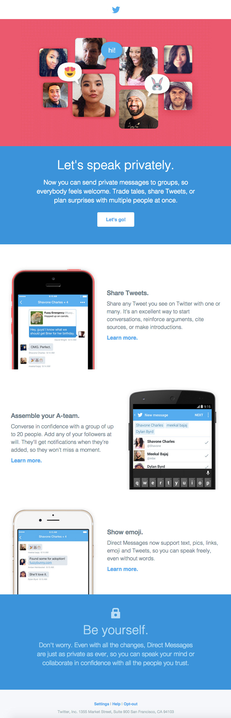 InVision twitter email