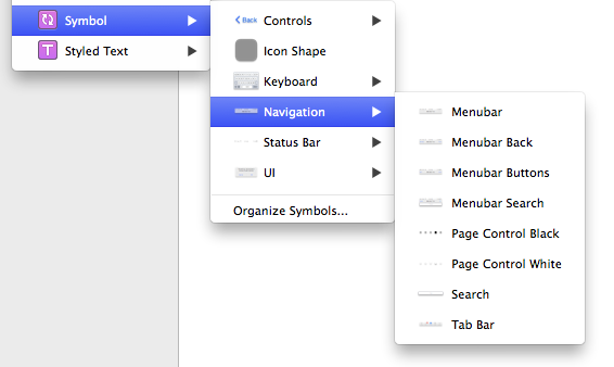 organizing symbols in sketch