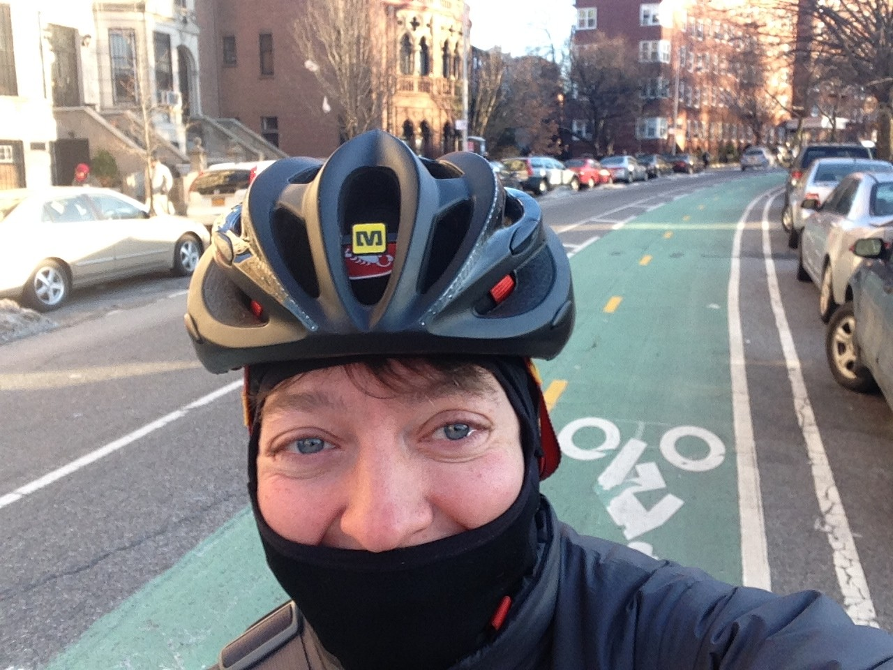 """I broke my riding in the cold record commuting in 3 degrees with a -12 windchill from red hook to the museum.""Shelley Bernstein, Vice Director of Digital Engagement and Technology at Brooklyn Museum"