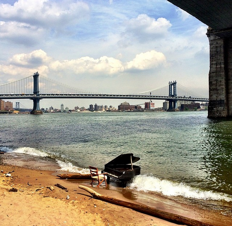"""My daily commute gets a little livelier when New Yorkers commit random acts of art, like this piano in the East River.""Zeb Dropkin, Hustling Entrepreneur at RentHackr"