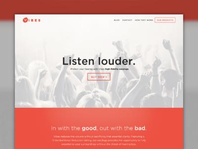 Vibes Website Design By Steven Miller