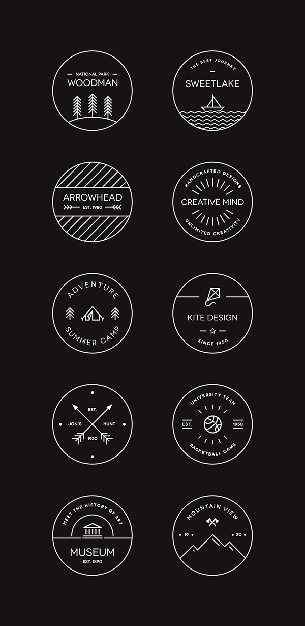 10 Vector Badge Templates For Designing Logos Free Inside Design Blog