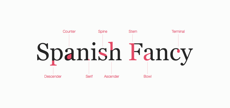 Font Classifications Spanish Fancy