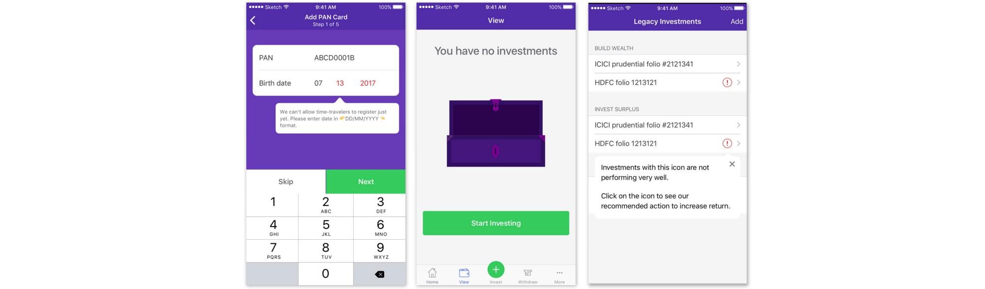 Finance tool design
