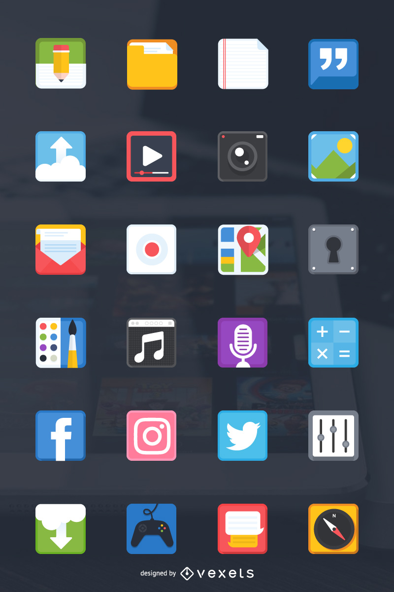 24 free icons for your next mobile app design project for App design online