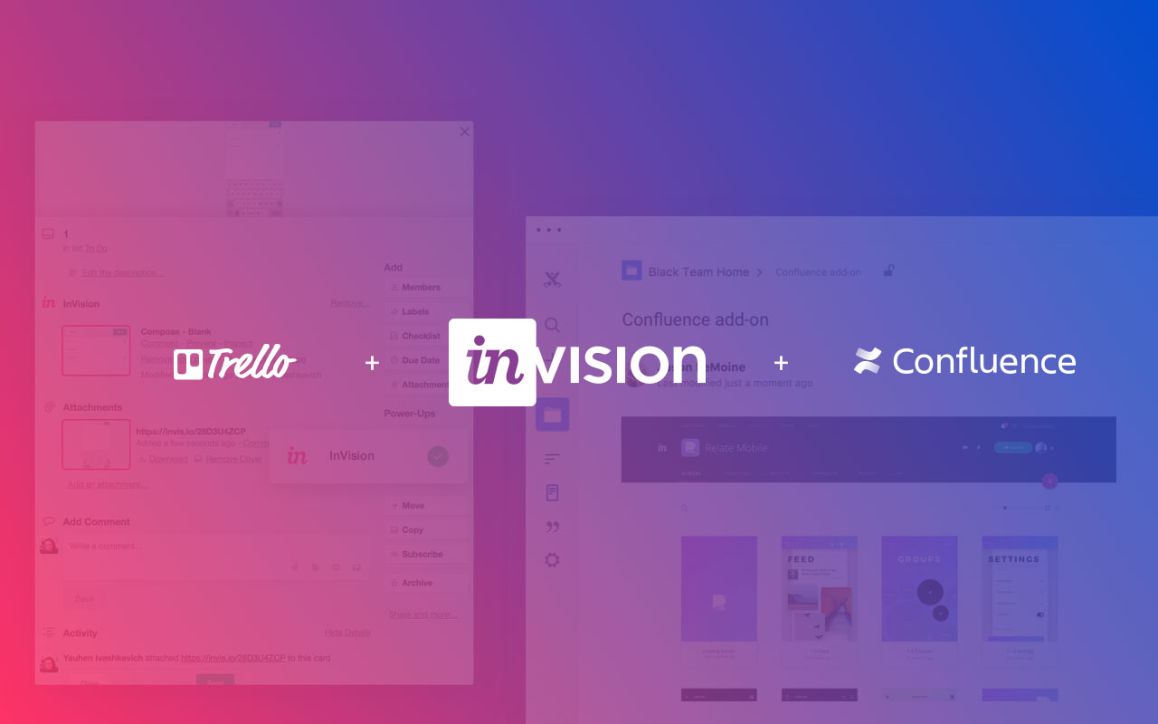 Accelerate your workflow with InVision + Confluence and InVision + Trello