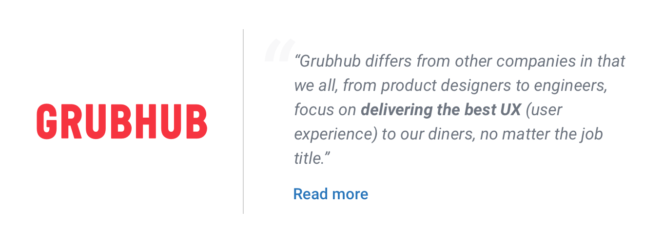 Grubhub design jobs