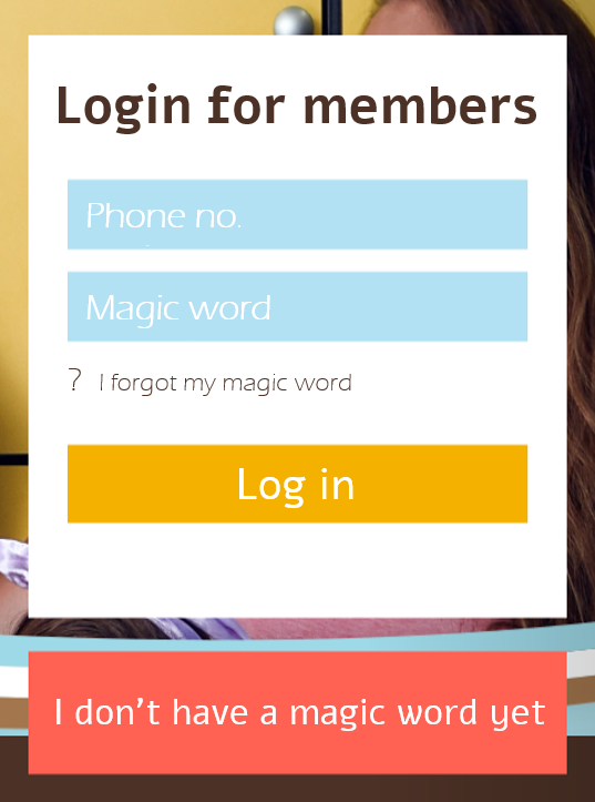 Screenshot of an inaccessible login form
