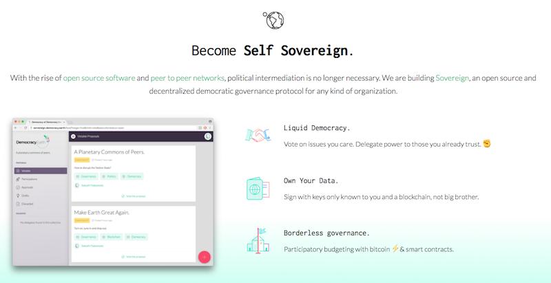 Screenshot of Democracy.earth