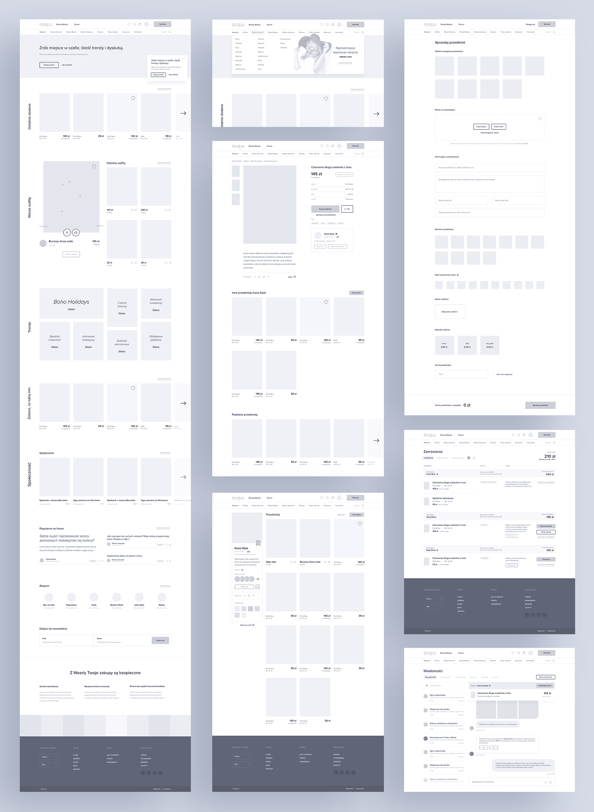 Wireframe examples
