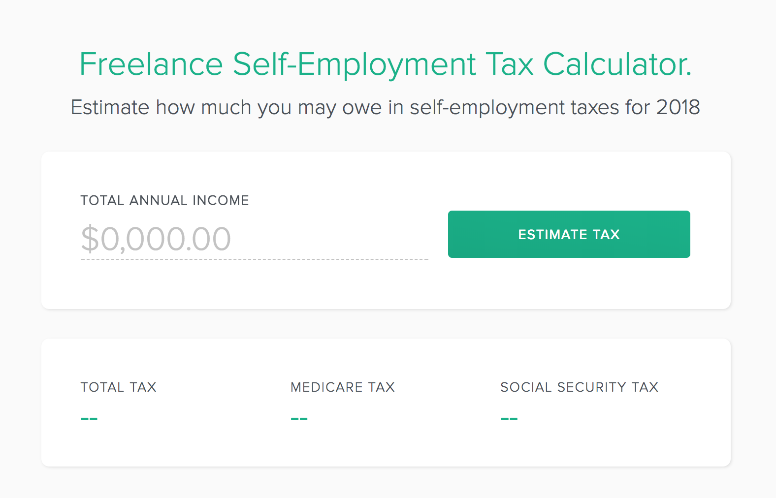 using a simple self employment tax calculator can help you anticipate your taxes