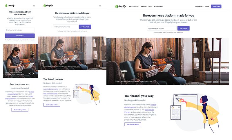 Shopify - diseño web responsive