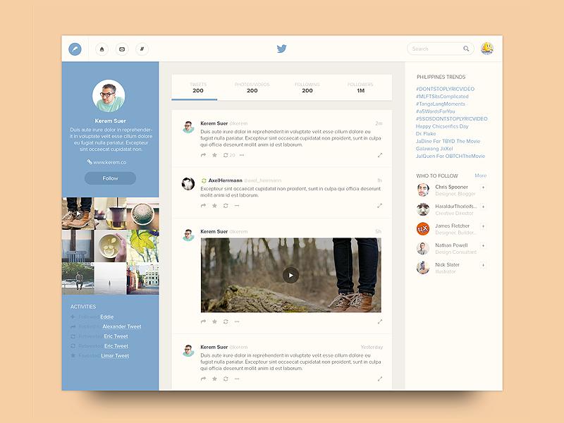 Website redesign concept