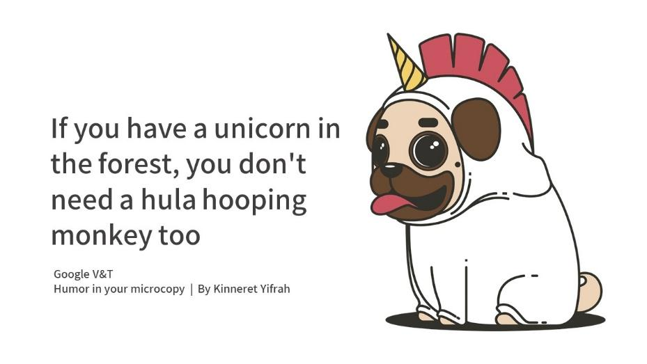 Humor in microcopy