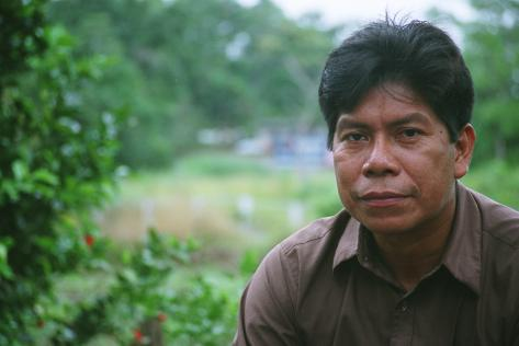 Humberto Piaguaje, leader of the Secoya people in Ecuador. Photo by Coco Laso/Oxfam America