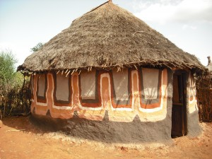 One of the decorated Borena homes. Photo: Coco McCabe / Oxfam America