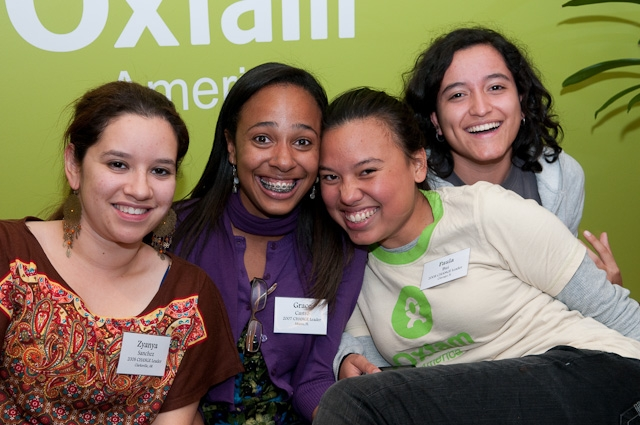 CHANGE alumni reunited in Boston earlier this month. Photo by: Cheryl Colombo/Oxfam America.
