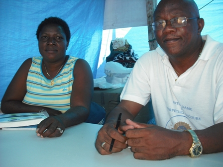 The Rev. Jean-Jacques Frederic helped organize a camp for displaced people.
