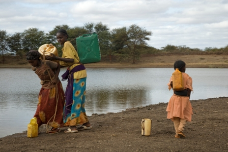 Ketele Pond serves as a source of drinking water for herding famlies in southern Ethiopia. Photo by Eva-Lotta Jansson/Oxfam America