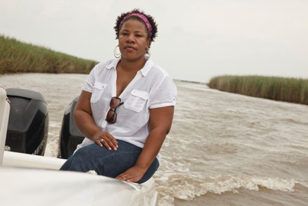 The oil-soaked marshes were silent when Rhonda Jackson toured them recently. Photo by Audra Melton/Oxfam America