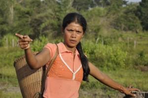 San Lap grows rice in her village Lalai, in Ratanakiri, Cambodia. Photo by Chris Hufstader/Oxfam America