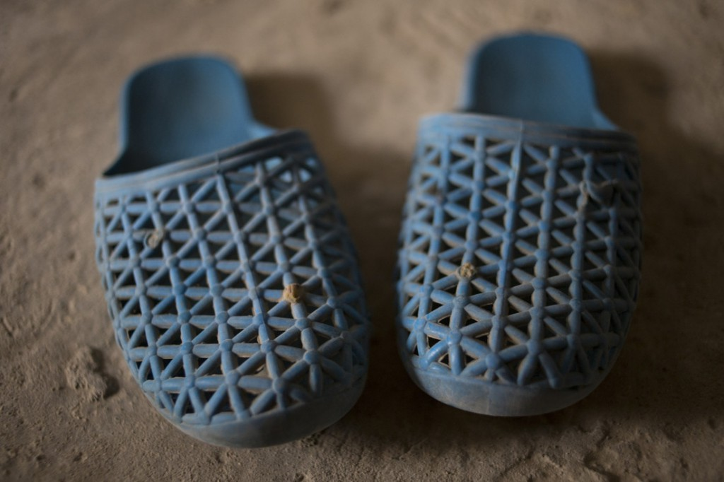 Shoes belonging to Reema (not her real name), 12, a refugee from Syria living in Lebanon. Photo: Sam Tarling/Oxfam
