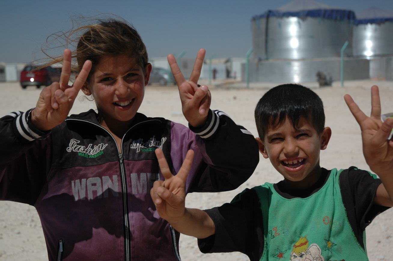 Kids living in Zaatari Refugee Camp in Jordan. Photo: Karl Schembri/Oxfam