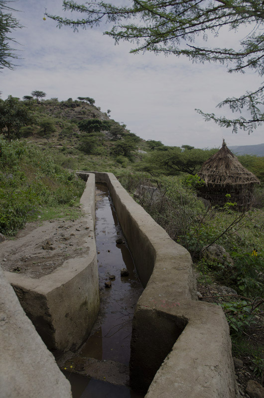 A channel for the Girisa-Golba irrigation project brings water from the Dadaba River to farmers. Photo by Eva-Lotta Jansson/Oxfam America