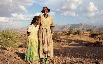 Medhin Reda and her daughter in the village of Adi Ha, Ethiopia. Photo: Coco McCabe / Oxfam America