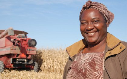 Madame Jacqueline Morette of Haiti visits a farm in Iowa in 2011. The trip was part of her work to encourage more support for small-scale women farmers. Photo by Sarah Peck/Oxfam America