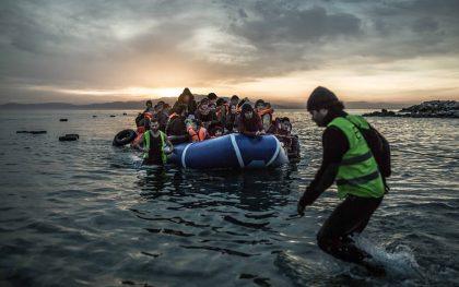 Syrian refugees arrive on the small Greek island of Lesbos. Photo: Pablo Tosco / Oxfam