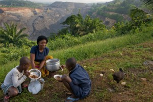 Communities relocated to make way for gold mines in Ghana.  A strong SEC rule will increase transparency in the oil, gas, and mining industry and foster government accountability.  Photo by Neil Brander/Oxfam America