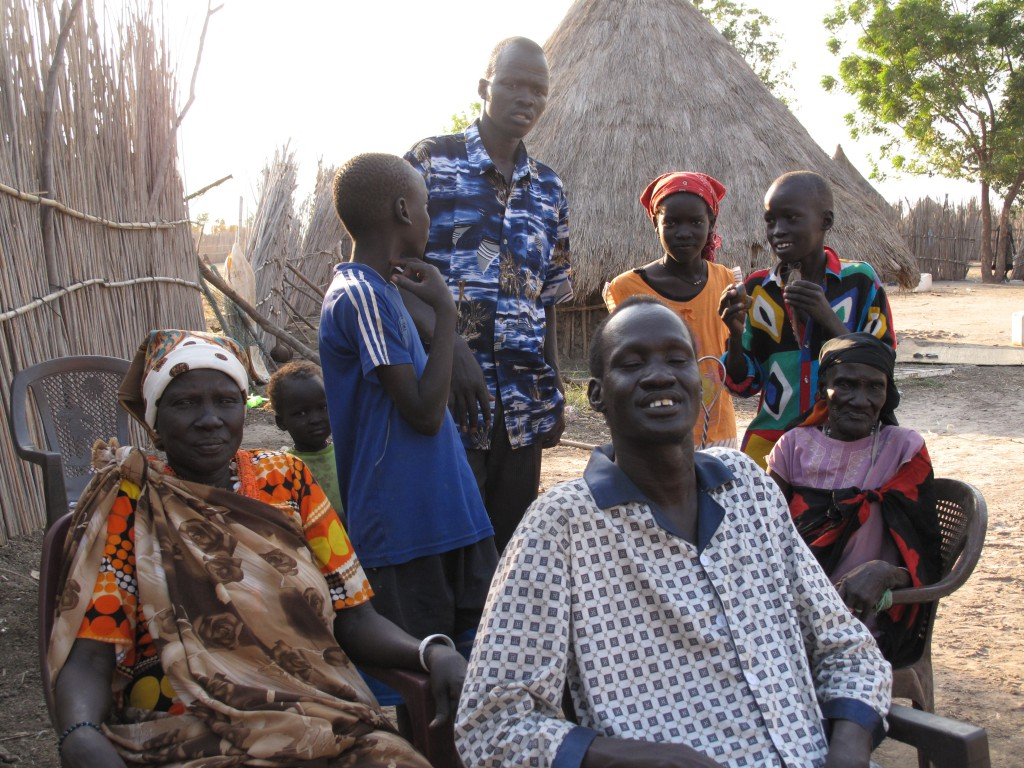 This family recently returned to southern Sudan after 21 years of living in the north, in the hope that after independence they would be able to have a better future.  Photo by Caroline Gluck/Oxfam