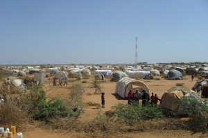 Dadaab refugee camp in Kenya where refugees from Somalia arrive everyday.  Photo by Linda Ogwell/Oxfam.