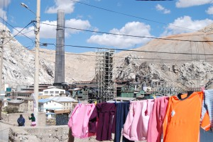 La Oroya, one of the most polluted towns in the world and the site of the Doe Run lead smelter.  Photo by Keith Slack.