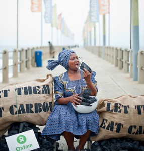 Let them eat carbon. The food we all rely on is at risk in the face of a changing climate. Photo by Ainhoa Goma/Oxfam