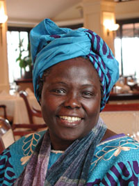 Wangari Matthai was the first woman in  East and Central Africa to earn a PhD, and she went on to become a lifelong environmental activist. She passed away  in 2011. Photo: greenbeltmovement.org