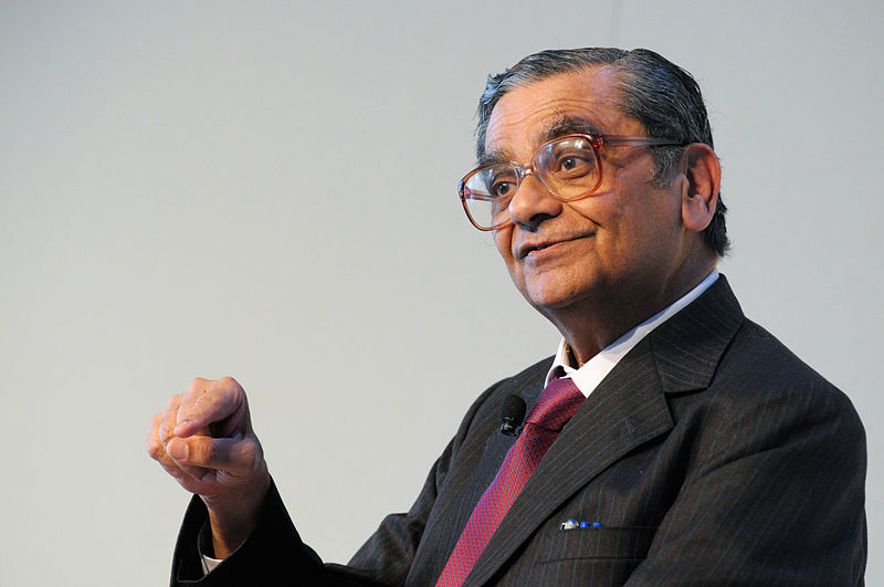 Jagdish Bhagwati,  professor of economics and law at Columbia University. Photo: http://bit.ly/12OBpxj