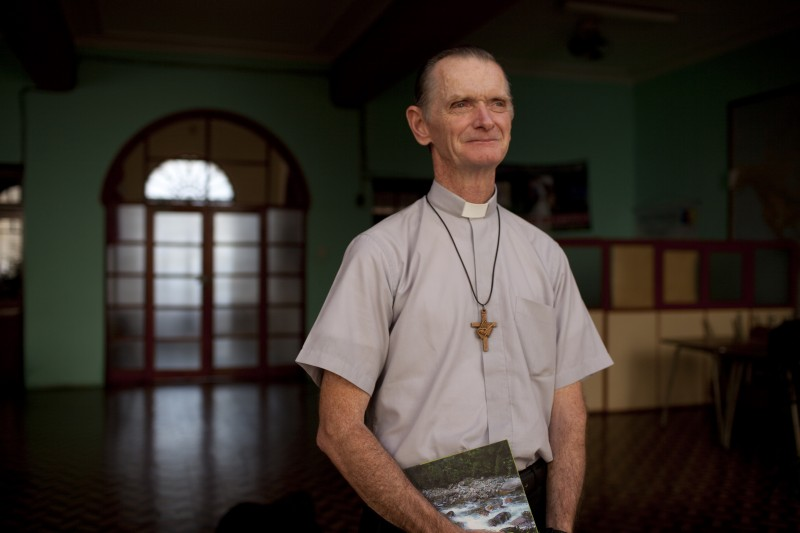 Bishop Daniel Turley Murphy OSA, Bishop of Chulucanas, has been engaged in dialogues with the Peruvian government about the persecution of national, regional, and local leaders of communities affected by mining since 2005. (C) 2009 David Stubbs