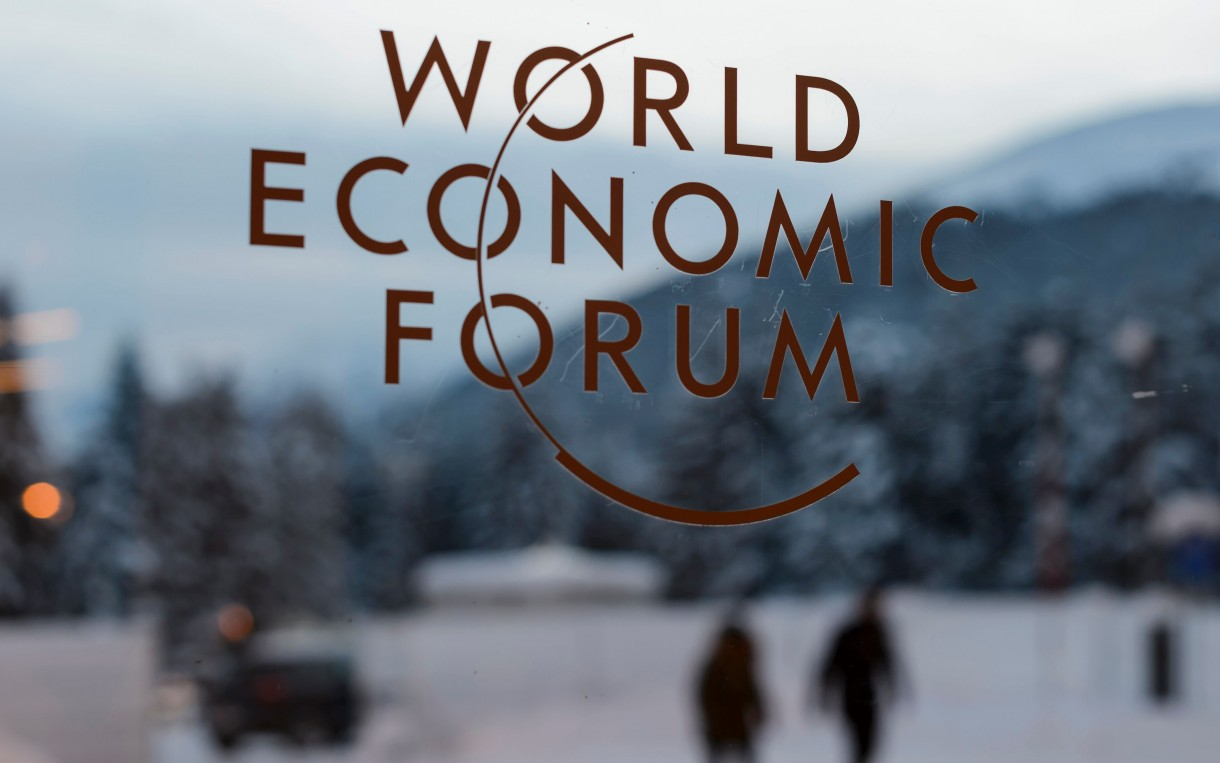 The World Economic Forum takes place annually in Davos, Switzerland. This year, attendees included a wide variety of business leaders, politicians, celebrities, philanthropists, and academics, including: Vice President Joe Biden, Melinda Gates, Leonardo Dicaprio, and Sheryl Sandberg. Photo: Fabrice Coffrini/AFP/Getty Images