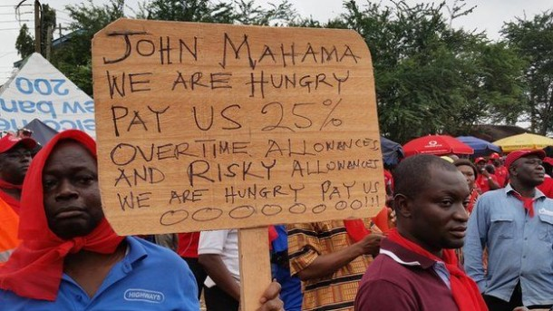 Ghanaians protest the high cost of living in Accra, Ghana in 2014. Photo: BBC