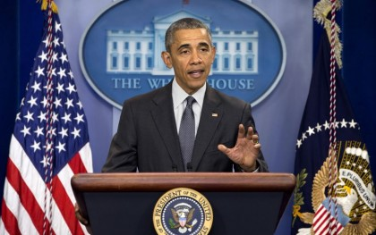 President Barack Obama at his press conference on April 5, 2016, where he called on Congress to pass legislation to combat the issue of offshore tax avoidance. Source: http://bit.ly/1Nm655O