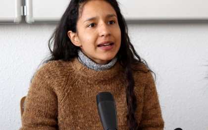 Bertha Isabel Zúniga Cáceres is the daughter of Berta Cáceres, founder of National Council of Popular and Indigenous Organizations of Honduras (COPINH). Source: http://bit.ly/244Yj87/ Sebastian Meyer (Oxfam)