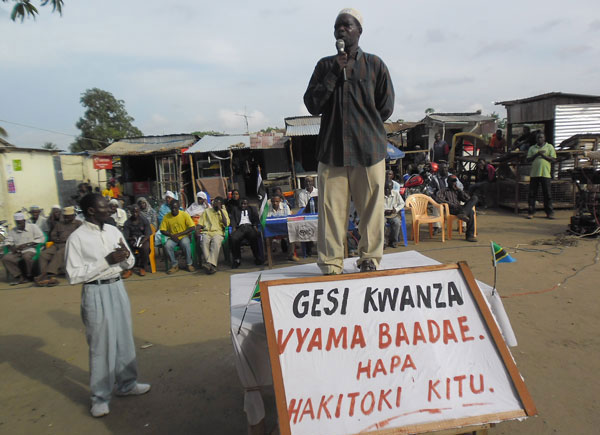 Citizen protests in Mtwara. (Photo: The Citizen)